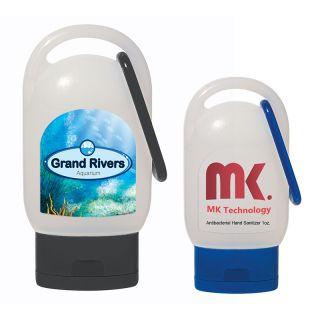Custom Printed 1 Oz Hand Sanitizer With Carabiner