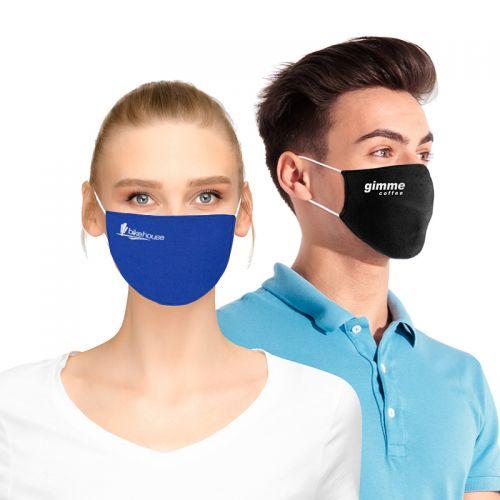 Standard Flat Cotton Face Masks with Filter Pocket