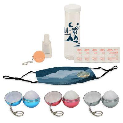 Customized Key Comfort PPE Kit with Lip Balm Keychain