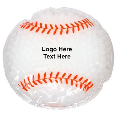 Custom Printed Baseball Shaped Hot / Cold Packs