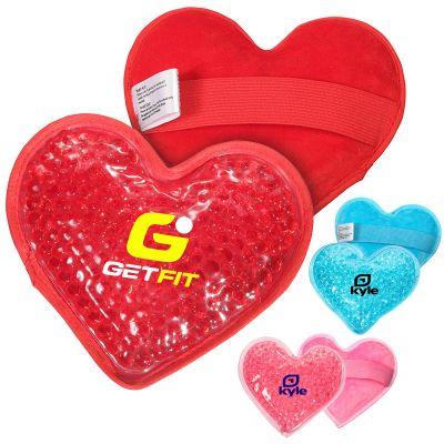 Custom Printed Plush Heart Shaped Hot and Cold Packs
