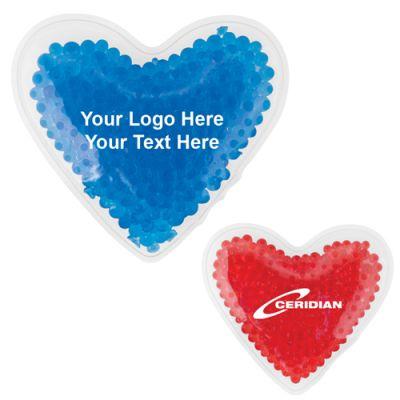 Logo Imprinted Heart Shape Hot and Cold Gel Packs