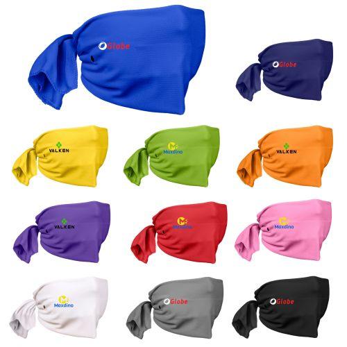 Riveted Cooling Towel Tie-Back Face Masks