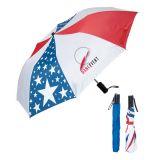 42 Inch Arc Custom Printed Folding USA Umbrellas