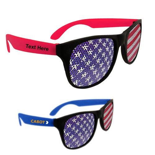 American Flag Neon Billboard Sunglasses
