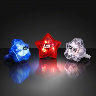 Promotional LED Assorted Star Bling Rings