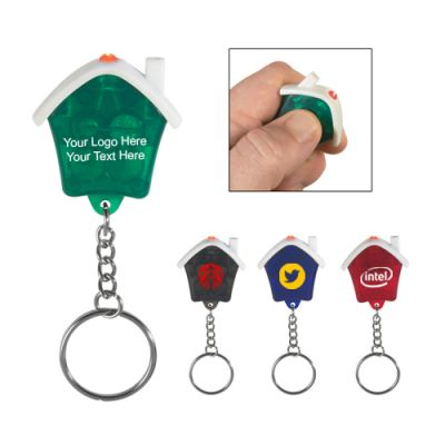 Custom House Shape LED Keychain Flashlight