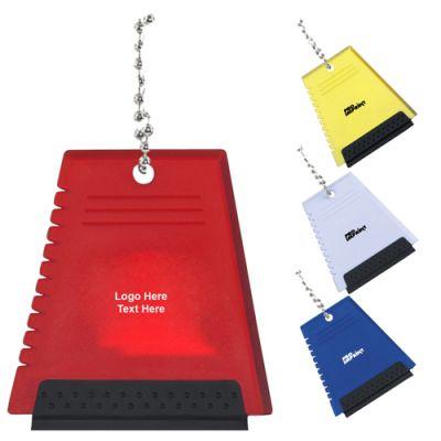 Custom Imprinted Mini Plastic Ice Scraper Keychains