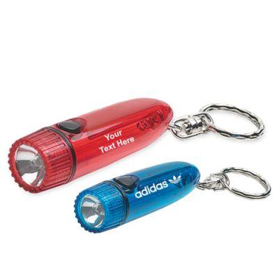 Customized Cylinder Flashlight with Keychains