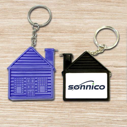 House Shaped Tape Measure Keychains