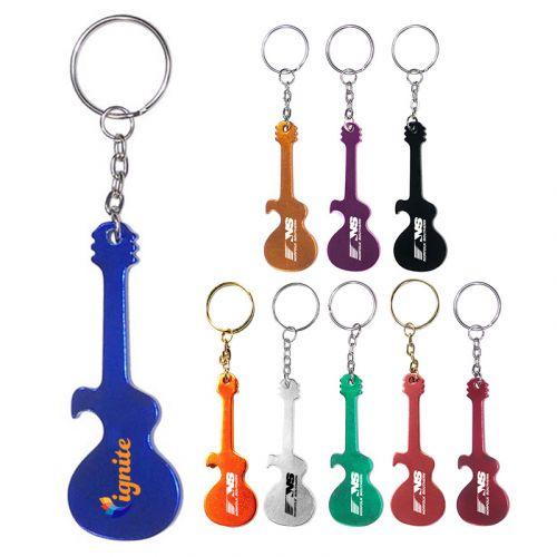 Guitar Shape Bottle Opener Keychains