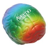 Custom Printed Rainbow Brain Shaped Stress...