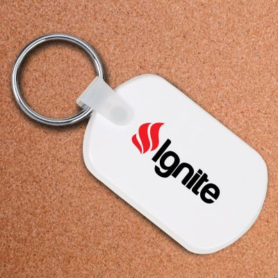 Custom Printed Rectangular Soft Key Tags