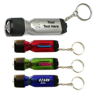 Personalized Mini Flashlight Tool Keychain w/ 4 Colors