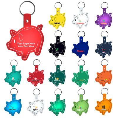 Custom Printed Piggy Bank Shaped Flexible Key Tags