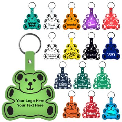 Personalized Teddy Bear Flexible Key-Tags
