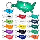 Promotional United States Shaped Flexible Key-Tags
