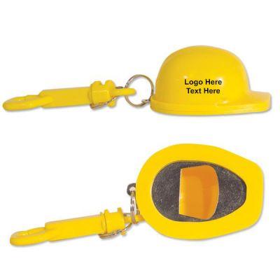 Customized Construction Hat Shaped Bottle Opener Keychains