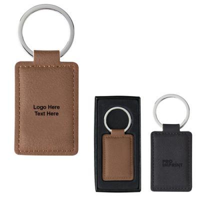 Promotional Logo Leatherette Executive Key Tags