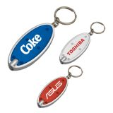Personalized Oval Keychain Flashlights