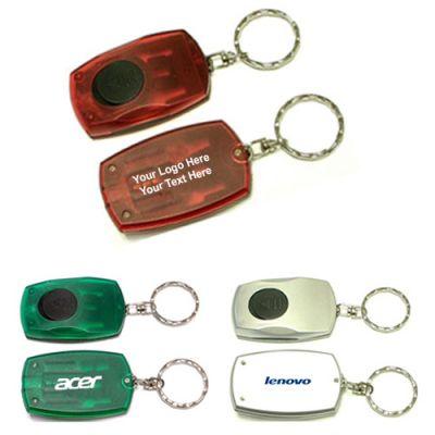 Personalized Rectangular LED Flashlight Keychain