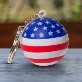 Custom Printed Patriotic Stress Ball Key Chains