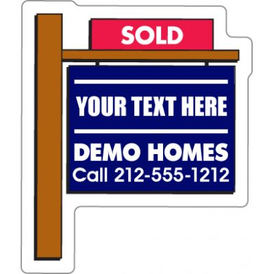 2.25x2.75 Custom Printed Real Estate Sold Sign Shape Magnets
