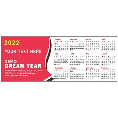 2.17x5.6 Custom Refrigerator Calendar Magnets 20 Mil