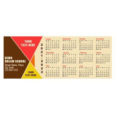 2.17x5.6 Custom Printed School Calendar Magnets 20 Mil