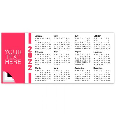 2x4.5 Mini Refrigerator Calendar Magnets 20 Mil