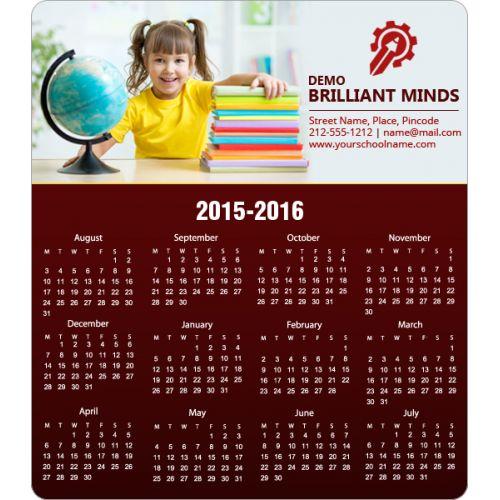 3.5x4 School Calendar Magnets 20 Mil Round Corner