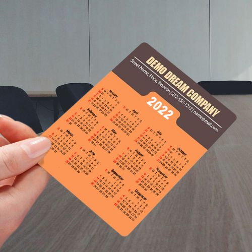 3.5x4 Custom Printed Calendar Magnets 20 Mil Round Corner