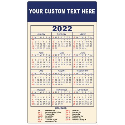 4x7 Custom Calendar Magnets 20 Mil Round Corner