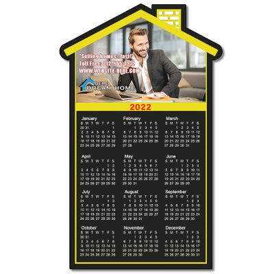 3.75x6.12 Customized Real Estate House Shape Calendar Magnets 20 Mil