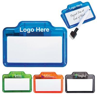 Custom Memo Clips with Dry-Erase Board