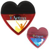 Custom Printed Good Value Heart Shaped Clips