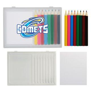 Custom Printed 8 Piece Colored Pencil Art Set in Case