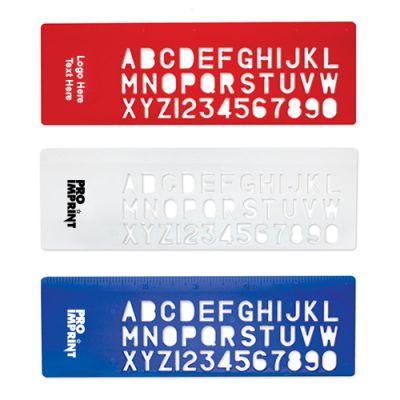 Custom Imprinted Stencil Rulers