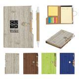 Custom 4 x 6 Inch Woodgrain Look Notebooks with...