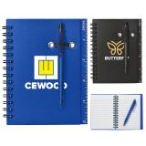 Promotional Logo Spiral Notebooks and Pen