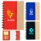 Promotional Small Spiral Notebooks with Sticky Notes and Flags