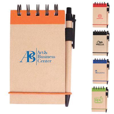 V Natural Kraft Jotters with Pen