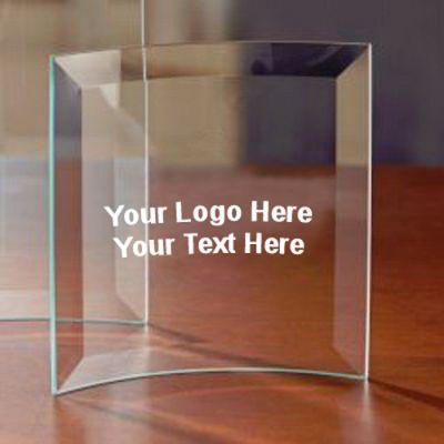 Personalized Jade Square Crescent  - Small Award