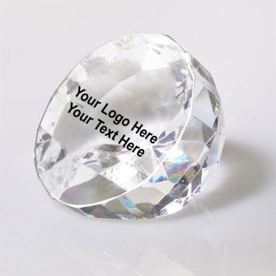 Promotional Flat Cut Diamond Crystal Awards