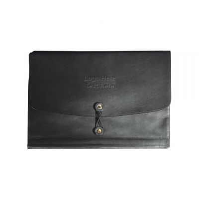 Horizontal Manila Black Leather Envelopes Business Cards Holders