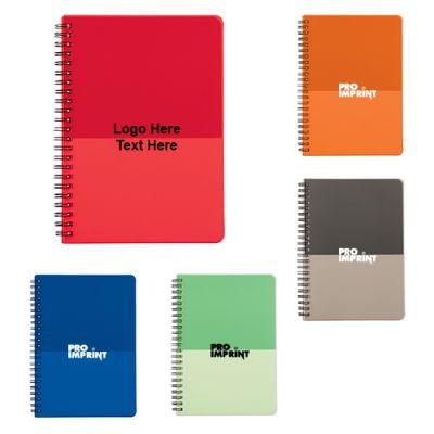 Promotional Color Block Large Spiral Notebooks