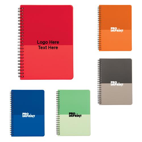 Promotional Color Block Large Spiral Notebooks Portfolios Notebooks