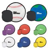 Promotional Logo Foldable Flying Disks with Pouch
