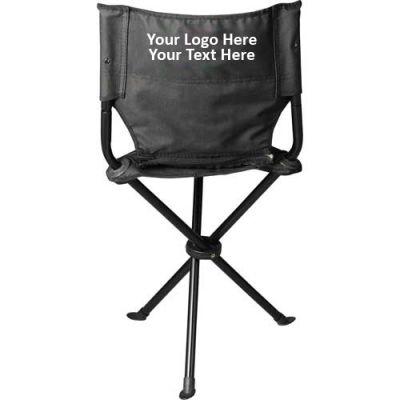 Promotional Logo Tripod Folding Stool with Back
