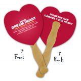 5.25x5.5 Inch Custom Imprinted Heart Shaped Mini...